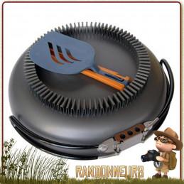 Poêle Jetboil Flux Ring avec échangeur thermique en aluminium anodisé possède le répartiteur de chaleur FluxRing intégré