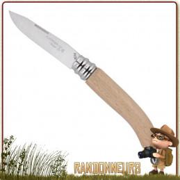 Couteau pliant L'ALPAGE du coutelier français, André VERDIER manche bois de Hêtre naturel virole de sécurité