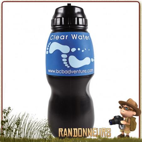 Gourde Filtrante CLEAR WATER Noire Water To Go