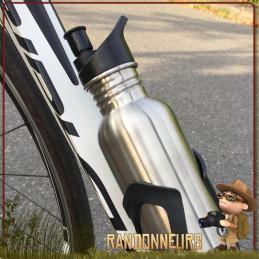 Gourde Sport Randonnée acier Inox 120 cl 1.2 litres Basic Nature pour le sport cycliste deux roues