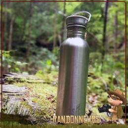 Gourde Randonnée trekking acier Inox 120 cl Basic Nature