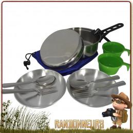 Popote Scout Inox 2 Personne CAO pour le camping à deux