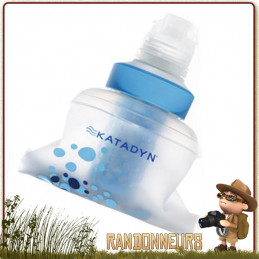 Gourde Filtrante BEFREE 60 cl Katadyn ultra légère souple pour filtrer eau potable en randonnée