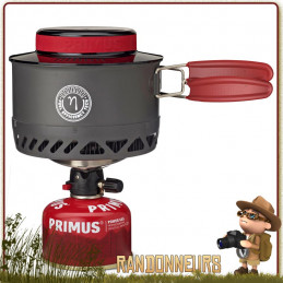 Popote Réchaud Lite XL Primus optimisé avec échangeur thermique, pare vent et piezo pour randonner 3 saisons