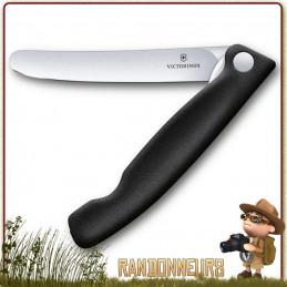 Couteau camping pliant office Victorinox pliant lame lisse SWISSCLASSIC de randonnée légère