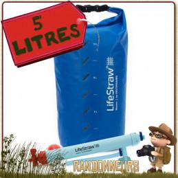 filtre par gravité Mission 5 Litres Lifestraw est un filtre portable de traitement de l'eau potable