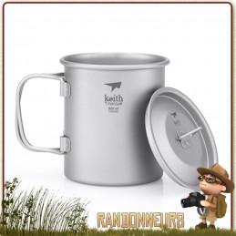 pot tasse titane de Keith est un pot en titane ultra léger 30 cl pour la randonnée ultra light et bivouac léger