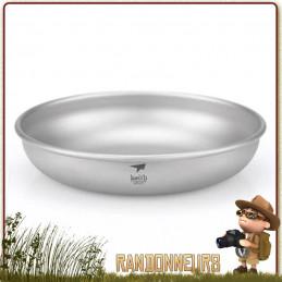 vaisselle bivouac leger Assiette titane keith ultra light et la randonnée minimaliste