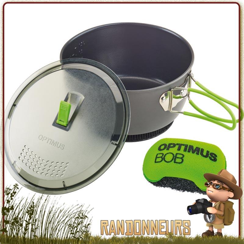 Set Cuisine pot aluminium anodisé TERRA XPRESS HE d'Optimus Casserole avec répartiteur de chaleur couvercle-passoire