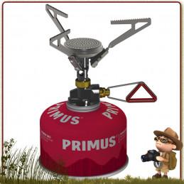 réchaud gaz Microntrail Primus est tout aussi puissant que léger 80 g trois pieds repliables popotes de 1 à 2 personnes