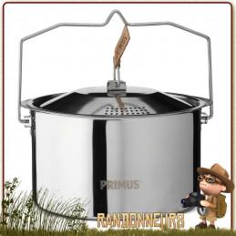 Robustesse  durabilité du CampFire Pot 3 Litres Primus faitout de cuisson en acier inoxydable avec couvercle passoire