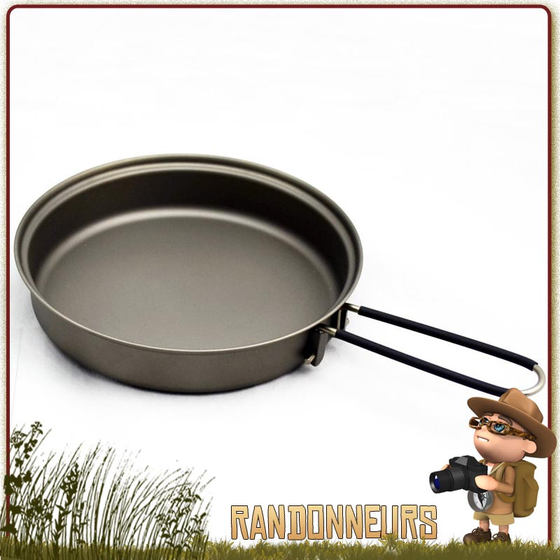 Poêle à frire ultra légère en titane de Toaks, idéale pour le camping ultra light et la randonnée trekking bivouac léger