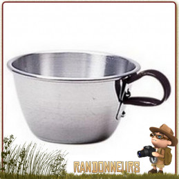 quart conique aluminium 30 cl de camping cao avec anses fixes. Tasse alu résistante de camp bushcraft survie