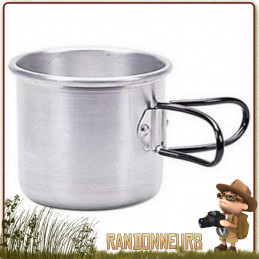 tasse haute aluminium 40 cl de camping cao avec anses fixes. Tasse alu résistante de camp bushcraft survie
