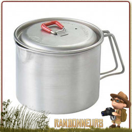 Bouilloire MSR en titane, ultra légère, robuste, bouilloire camping adaptée à la randonnée légère et au bushcraft nature