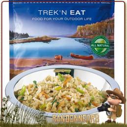 Sachet de repas végétarien Risotto au Soja et Légumes du Jardin Trek'n Eat lyophilisé