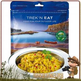 plat lyophilisé vegan randonnée légère Chana Masala Trek'n Eat curry de pois chiches