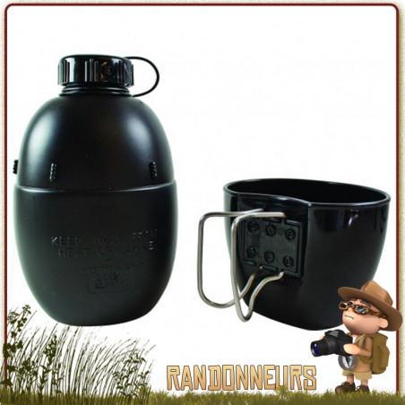 Gourde et Mug Noire Armée Britannique M58 Highlander