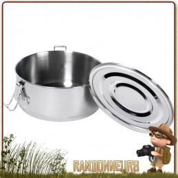 Boite Alimentaire étanche Inox 50 cl RELAGS basic nature acier inoxydable 18/10 avec couvercle étanche et joint