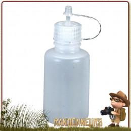 Flacon doseur goutte à goutte 30ml Nalgene pour liquide de vaisselle, produits cosmétique et alcool pour réchauds