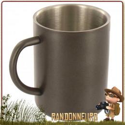 Mug inox Double Paroi isotherme 30 cl Highlander permettant à la fois de garder le liquide au frais ou au chaud