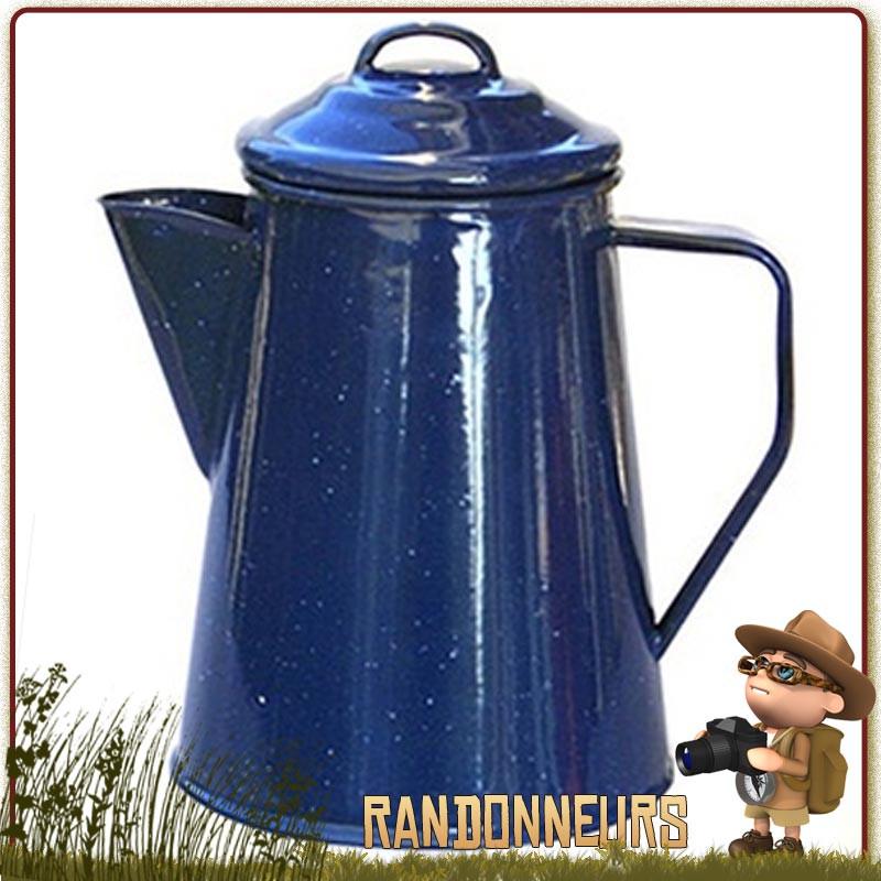Percolateur Acier Emaillé 5 Tasses 1 litre Relags pour un bon café bivouac bushcraft sur feu de camp