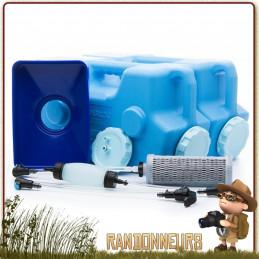 Système de Filtration Eau Aquabrick Sagan Life système de filtration complet virus, bactéries, métaux lourds survie urgence
