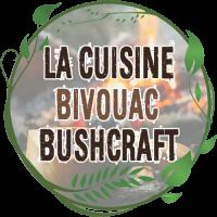 bivouac bushcraft le meilleur de la popote inox et du réchaud bois, assiette, tasse quart compatible feu de bois