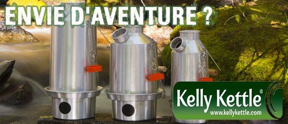 Bouilloire Kelly Kettle pour randonnée bushcraft