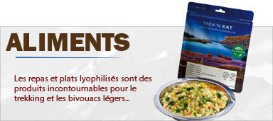 Aliments Lyophilisés de trekking