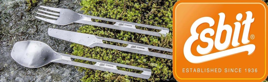 Couverts Titane ultra légers Esbit pour la randonnée